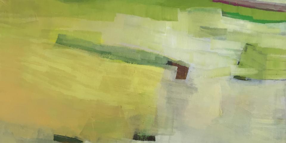 Roswitha Frank, Ins Licht, Öl auf Leinwand, 2015 © Hagen Horoba