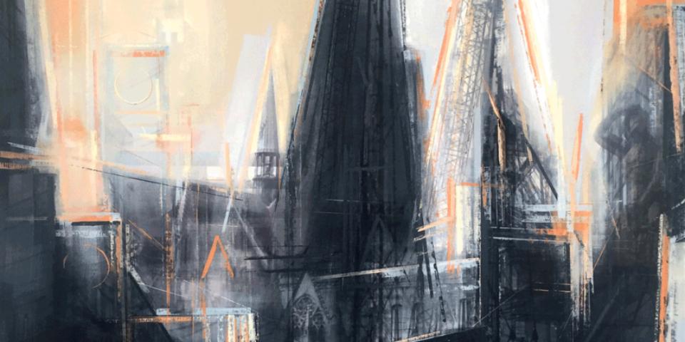 Alexander Rosol, #12 aus der Serie 'Statt-Sicht', Digitale Bildmontage (Ausschnitt) © Hagen Horoba