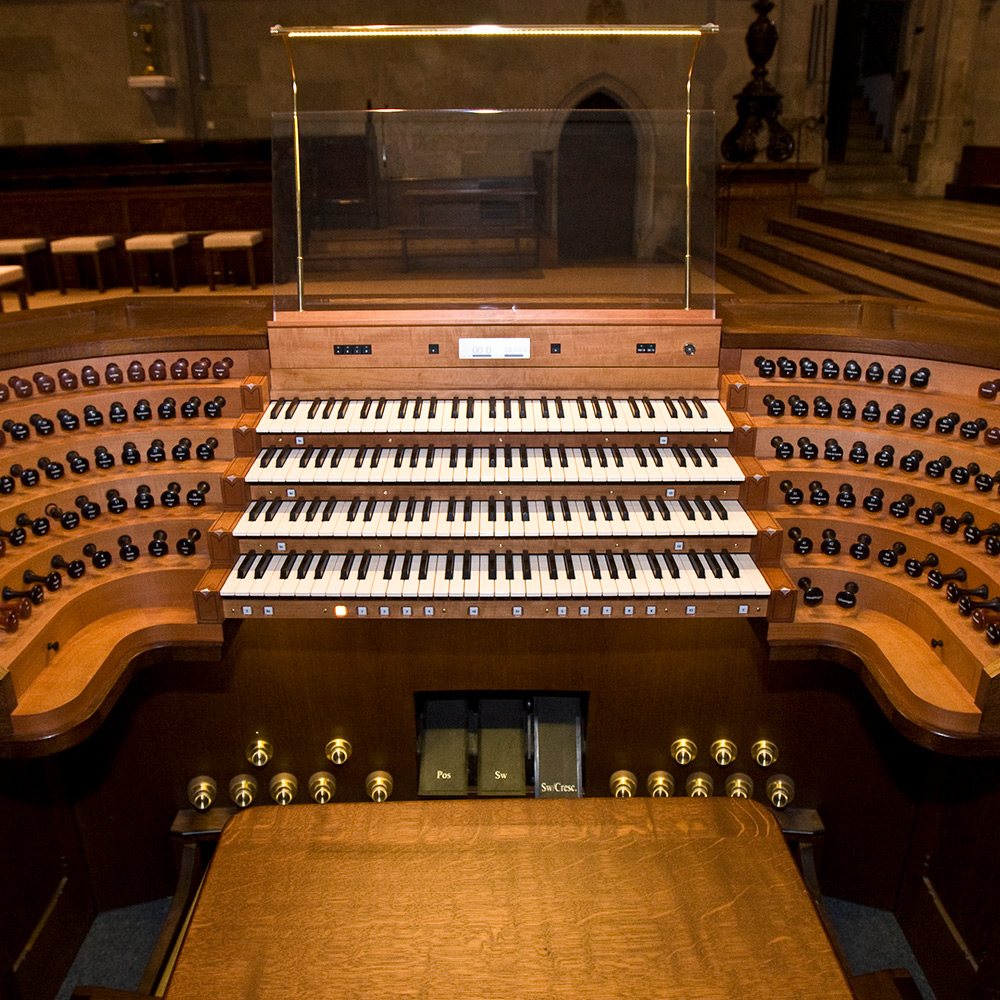 Generalspieltisch der Regensburger Domorgel © Michael Vogl
