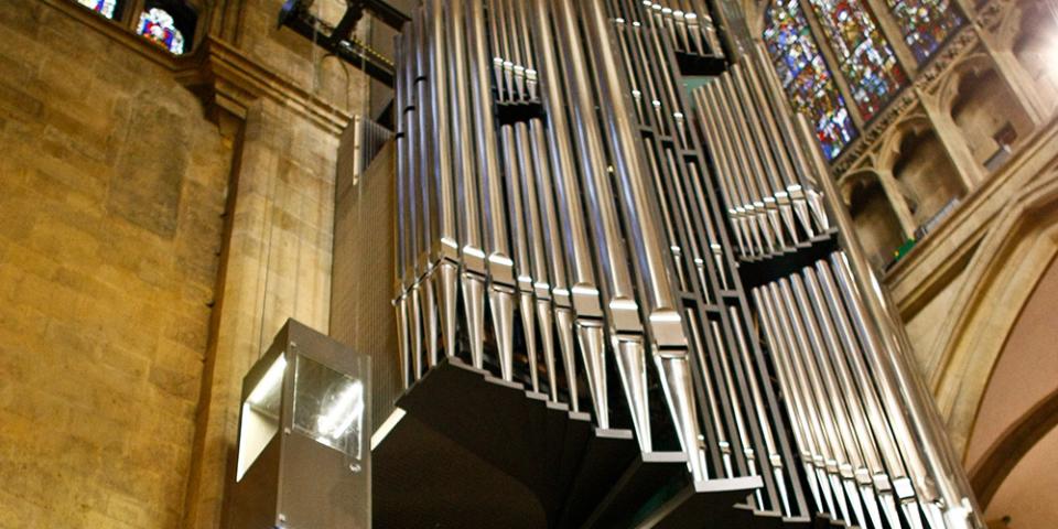 """Der """"unsichtbare Lift"""" der Regensburger Domorgel © Michael Vogl"""