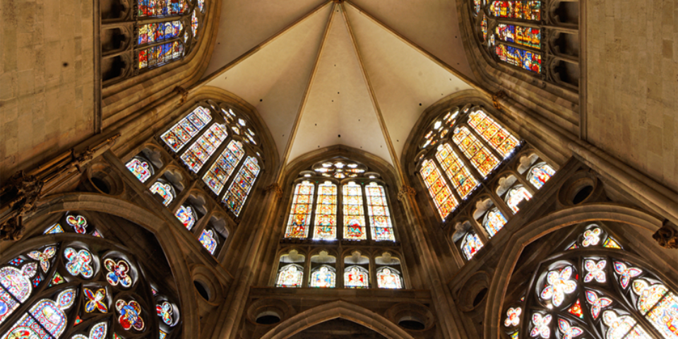 Blick zum Gewölbe im Chorraum. © Florian Monheim