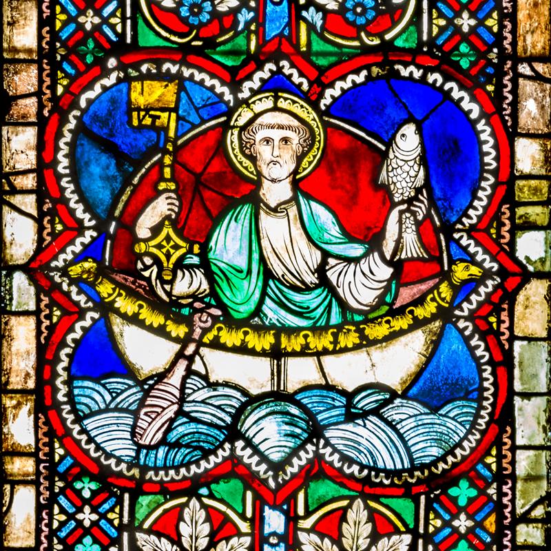 Petrus im Schiff. Das Wappen des Regensburger Domkapitels. © Michael Vogl